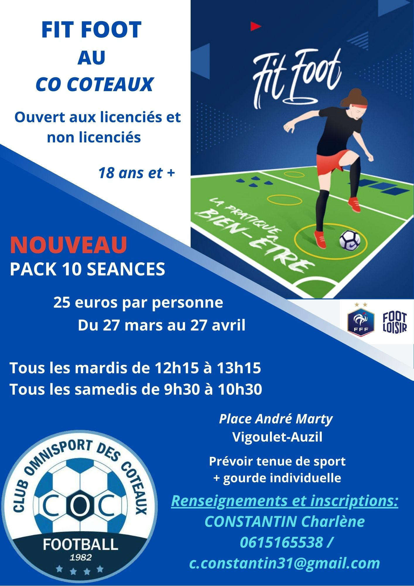 affiche fit foot pack 10